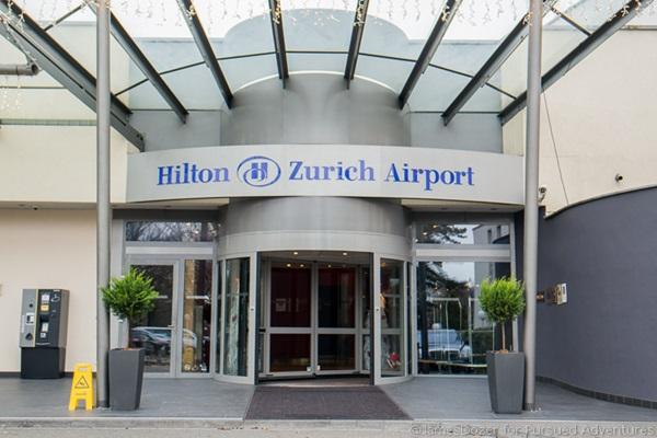 Hilton Hotel. Zurich. cash handling