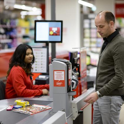 soluciones de cobro en punto de venta  para supermercados