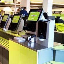 Self checkout cash payment