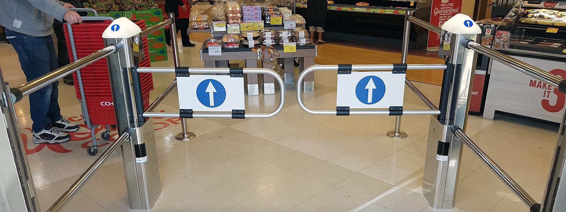 Tornelli d'ingresso del negozio