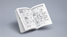 Instruction brochure Mockup