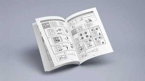 Instruction brochure Mockup